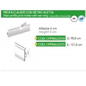 PROFILO ALSER C/RETRO ALETTA 4CM 131.8CM