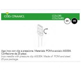 AGO INOX CON CLIP A PRESSIONE NERO CF25Z