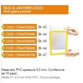 TASCA ANTI RIFLESSO CORNICE A4