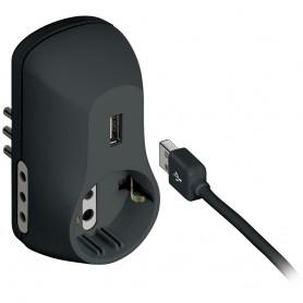 BTICINO ADATTATORE 3 PRESE + 1 USB