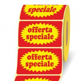 OFFERTA SPECIALE ETICHETTE 50X30 PZ.1000