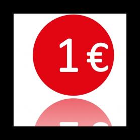 ETICHETTE TONDE D.40 1Euro ETICH.1000