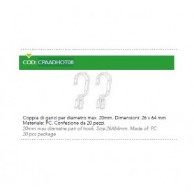 GANCI BARRA MAX 20MM CF.20