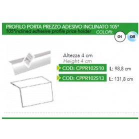 PROFILO BIANCO INCLINATO 105° H40 L988