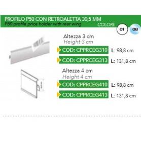 PROFILO PORTAPREZZO P50 H40 B.CO
